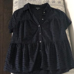 Madewell Eyelet Tiered Blouse